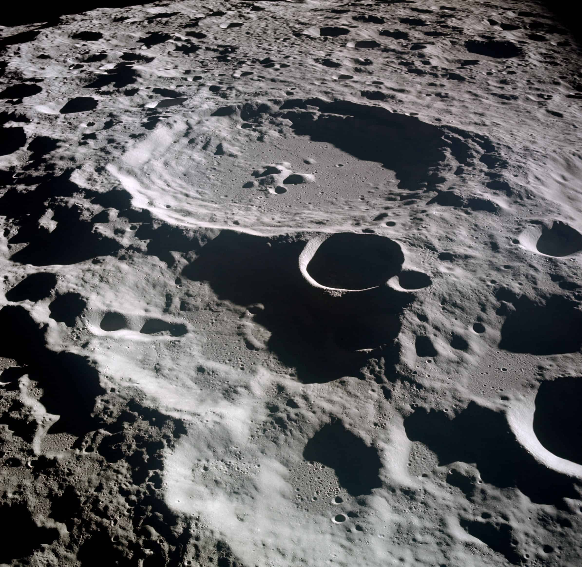 A typical crater on the moon