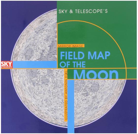 sky & telescope Field map of the moon
