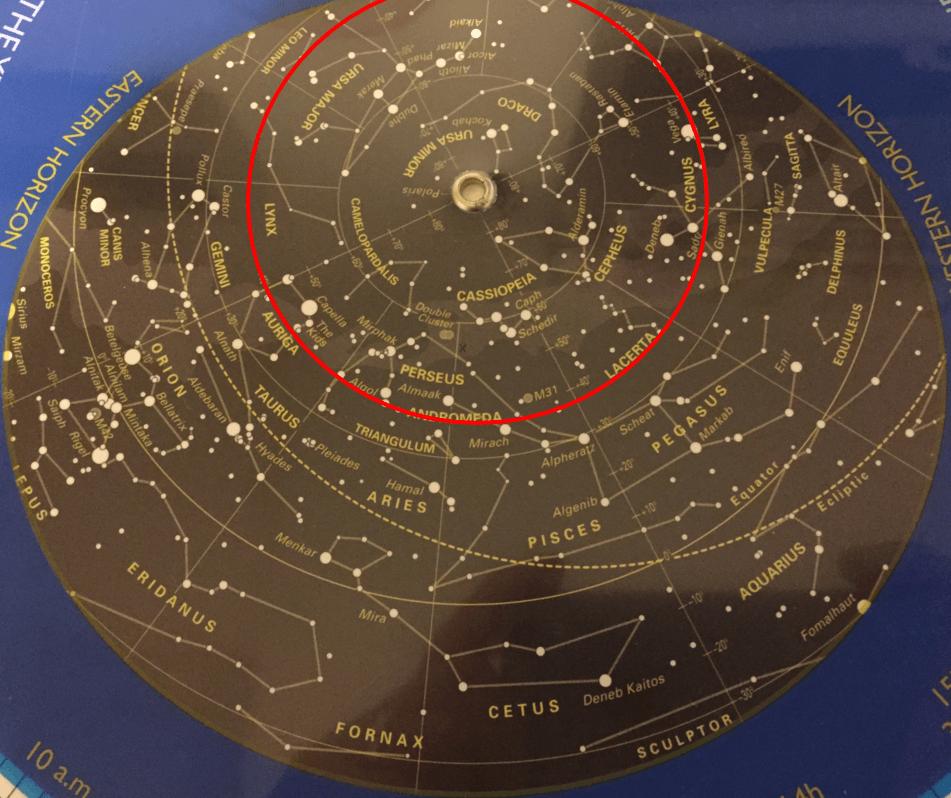 location of polaris star star map by location