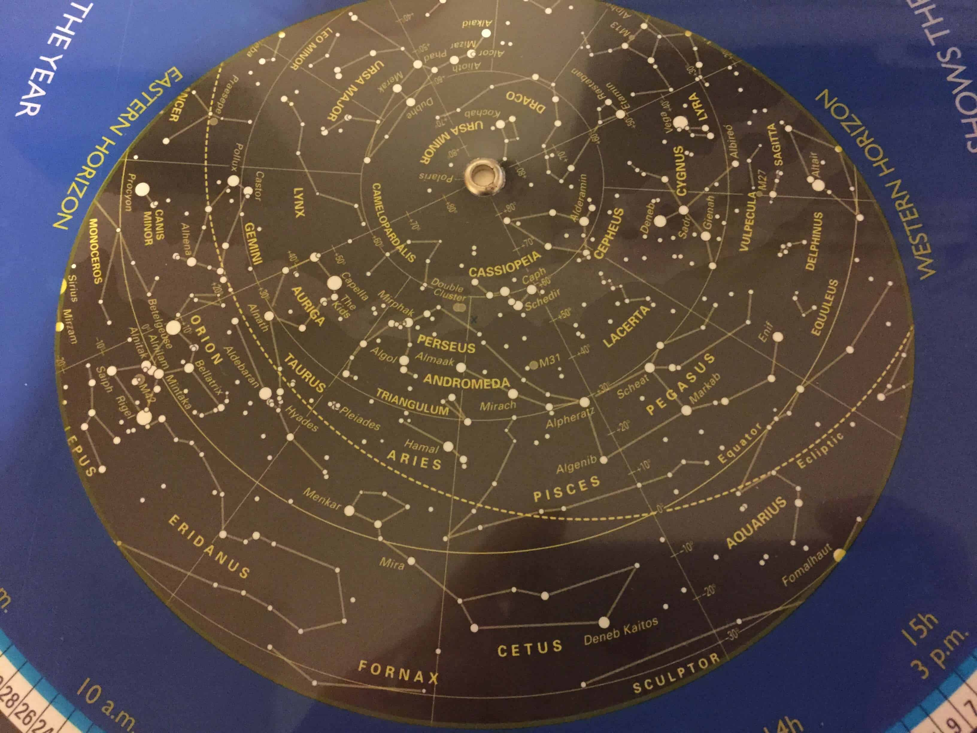 How to set a planisphere for today's date