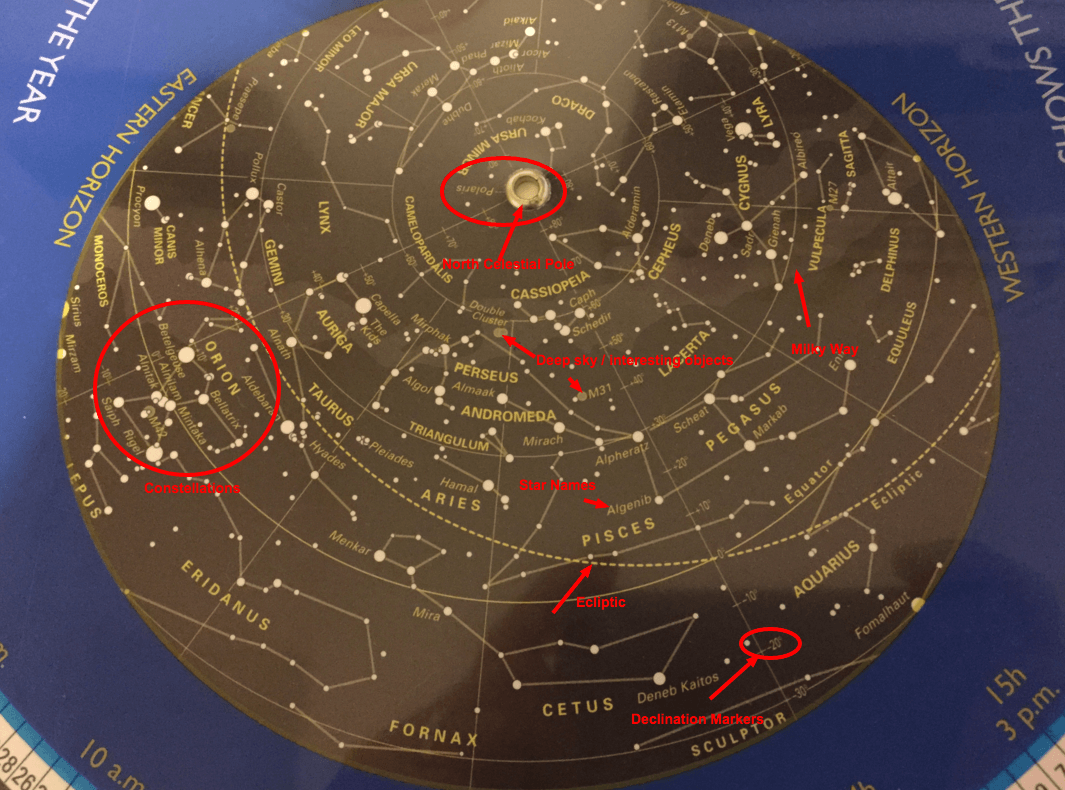How to use a planisphere - reading the sky window