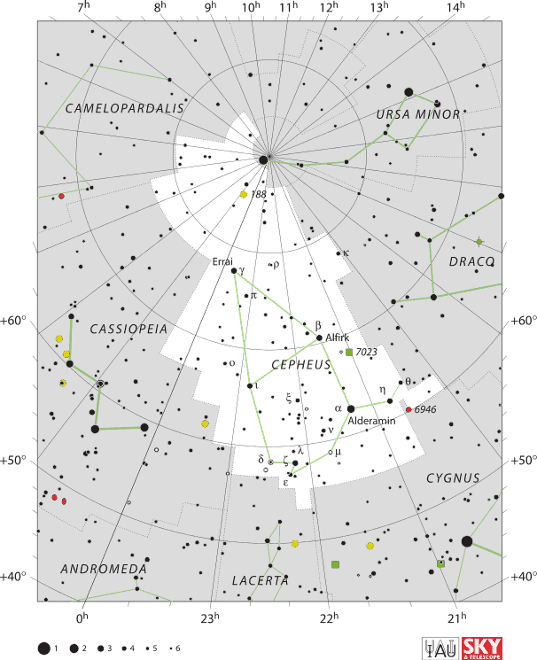Cepheus is a circumpolar constellation across the US