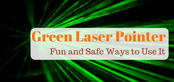 Using green laser pointers for astronomy