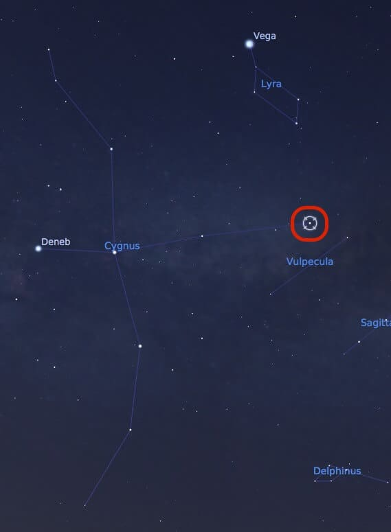 Where to find Albireo double star