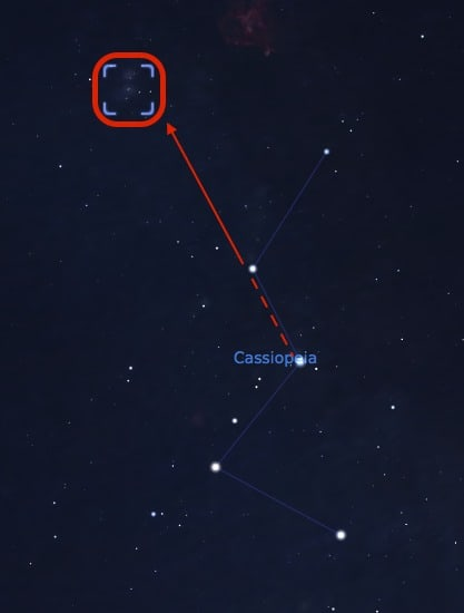 How to find the Perseus Double Cluster from Cassiopeia