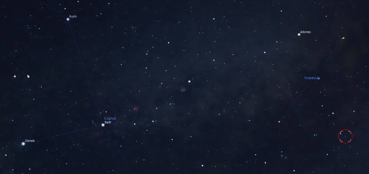Where to find M27, the Dumbbell Nebula