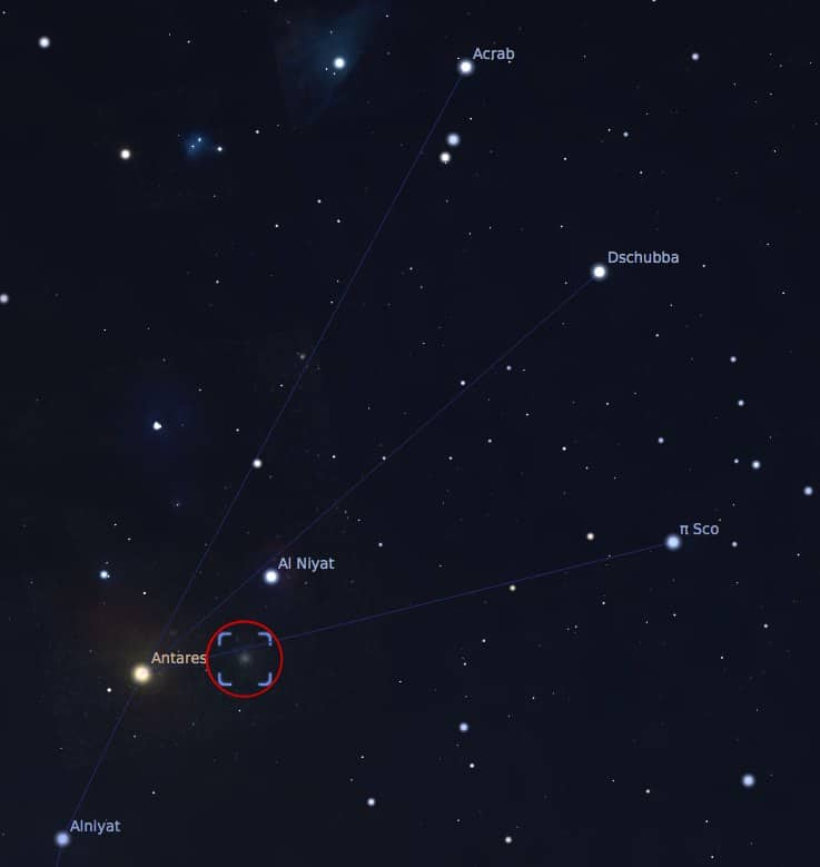 Where to find M4, Globular Cluster