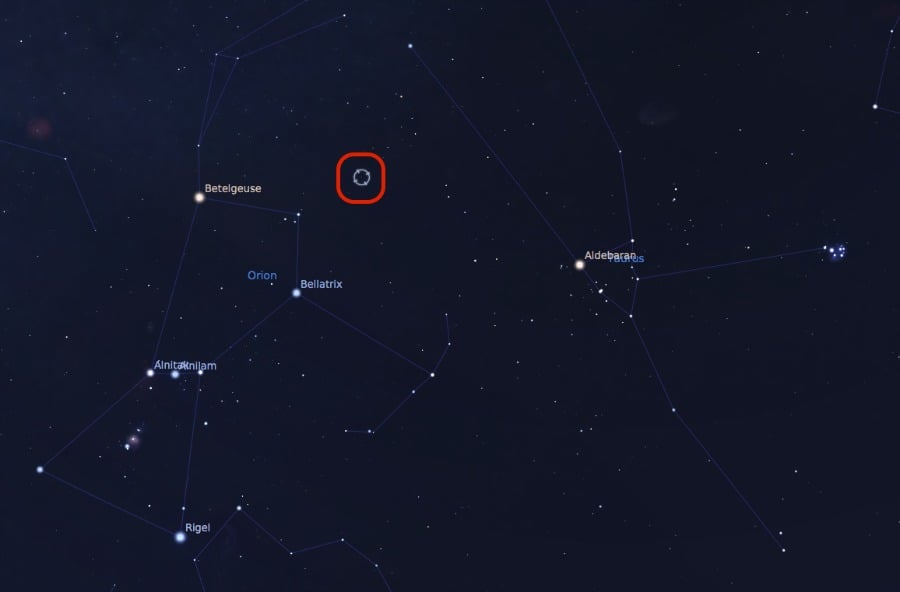 Where to find the Crab Nebula