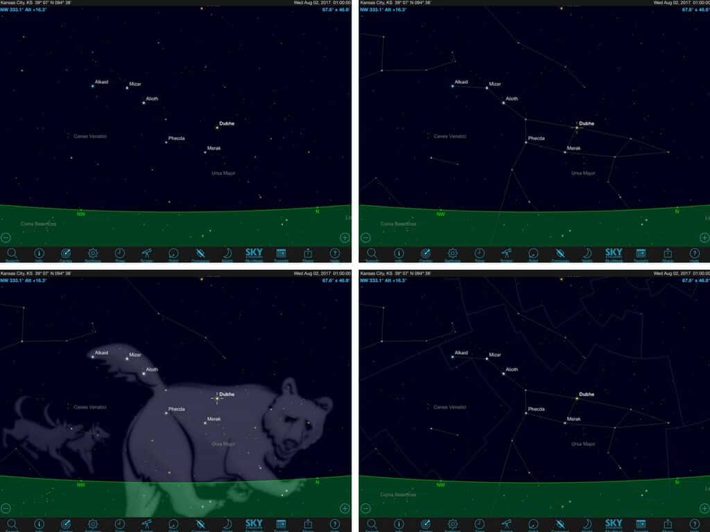 How to set constellations in Sky Safari 5